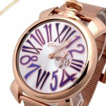 Gaga Milano コピー ガガミラノ スーパー コピー 腕時計 マヌアーレスリム MANUALE SLIM 46mm ピンクゴールド×パープル gaga vjCsDqZx-1