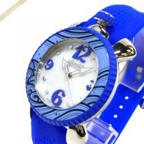 Gaga Milano コピー ガガミラノ コピー レディース腕時計 LADY SPORTS 39mm ホワイトパール×ブルー gaga dPs6GKLY-1