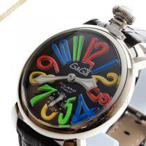 Gaga Milano スーパーコピー ガガミラノ  腕時計 マヌアーレ MANUALE 48mm 手巻き ブラック gaga Tbc6DhVS-1