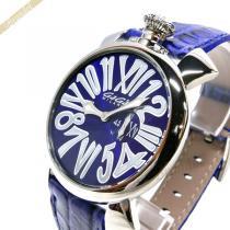 Gaga Milano  ガガミラノ スーパーコピー 腕時計 マヌアーレスリム MANUALE SLIM 46mm ブルー gaga ZwLRz6Ac-1