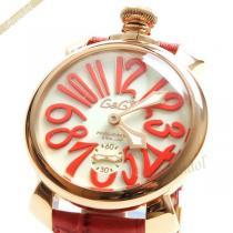 Gaga Milano  ガガミラノ コピー 腕時計 マヌアーレ PVD MANUALE 48mm 手巻き ゴールド×レッド gaga G3zkXlTB-1