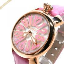 Gaga Milano  ガガミラノ コピー 腕時計 マヌアーレ MANUALE FLOATING 40mm ホワイト×ピンク gaga VoKovKMx-1