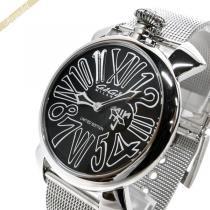 Gaga Milano コピー ガガミラノ スーパーコピー 腕時計 マヌアーレスリム ネイマールモデル MANUALE SLIM 46mm ブラック×シルバー gaga wiYS6NXW-1