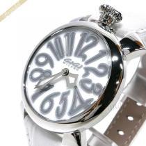 Gaga Milano スーパーコピー ガガミラノ コピー 腕時計 マヌアーレ MANUALE 40mm ホワイト gaga Wb3MDyaD-1