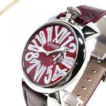Gaga Milano スーパーコピー ガガミラノ スーパー コピー 腕時計 マヌアーレスリム MANUALE SLIM 46mm レッド gaga hKM528M0-1