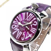 Gaga Milano コピー ガガミラノ コピー 腕時計 マヌアーレスリム MANUALE SLIM 46mm パープル gaga owkD1tJN-1