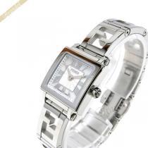 FENDI スーパーコピー フェンディ コピー レディース腕時計 クワドロ ミニ スクエア 20mm ホワイトパール×シルバー FENDI GKeygVa4-1
