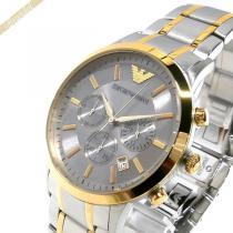 EMPORIO ARMANI コピー エンポリオアルマーニ コピー メンズ腕時計 RENATO レナート クロノグラフ 43mm シルバー×ゴールド ARMANI EHm5wIoq-1