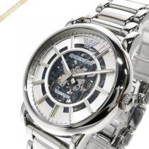 EMPORIO ARMANI スーパーコピー エンポリオアルマーニ コピー メンズ腕時計 オートマチック 43mm 自動巻き シルバー ARMANI aOLkDbXh-1