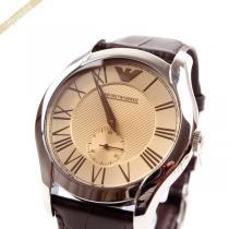 EMPORIO ARMANI スーパーコピー エンポリオアルマーニ コピー メンズ腕時計 クラシック 43mm ブラウン ARMANI VAOtkYFm-1