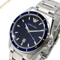 EMPORIO ARMANI スーパー コピー エンポリオアルマーニ コピー メンズ腕時計 SIGMA 44mm ネイビー×シルバー ARMANI RQmuZrUT-1