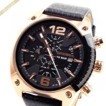 DIESEL スーパー コピー ディーゼル スーパー コピー メンズ腕時計 オーバーフロー クロノグラフ Overflow 49mm ブラック×ローズゴールド DIESEL lZzZHK5t-1