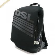 DIESEL  ディーゼル コピー リュックサック F-SUBTORYAL ロゴ バックパック ブラック DIESEL RPRVT8H7-1
