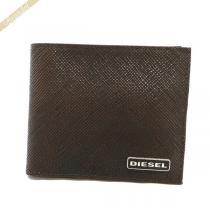 DIESEL  ディーゼル スーパー コピー 二つ折り財布 レザー ブラウン DIESEL XHvmfDhB-1