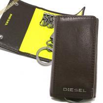 DIESEL  ディーゼル  キーケース KEYCASE O キーリング付 レザー ブラウン×イエロー DIESEL g6nJ172N-1