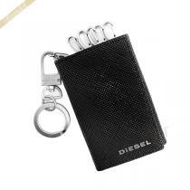 DIESEL コピー ディーゼル コピー キーケース STAINLESS MATT レザー ブラック DIESEL Diric3Du-1