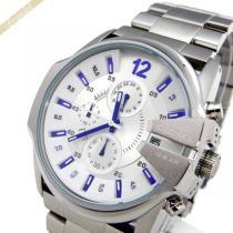 DIESEL コピー ディーゼル スーパーコピー メンズ腕時計 マスターチーフ クロノグラフ シルバー 45mm DIESEL JVAFp7WO-1