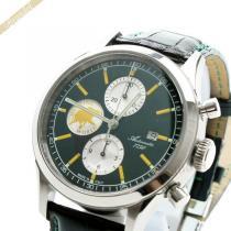 HUNTING WORLD  ハンティングワールド コピー メンズ腕時計 エステティカ クロノグラフ 44mm 自動巻き グリーン×サフランイエロー HUNTING vnZOQlh8-1