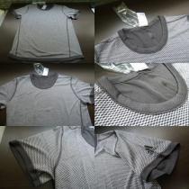 送料込(L灰)アデイダス BXA36 Tシャツ リバーシブルSNOVATOKYO丸首半袖-1
