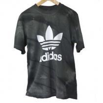 新品◆adidas Originals 黒でかトレフォイルTシャツ(M)-1