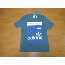 新品adidas  originalsアディダス スーパー コピーオリジナルスTシャツS青系-1