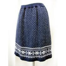 【earthmusic&ecology】紺/白のスカートです-1