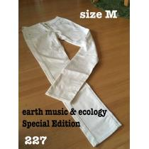 227 earth music & ecology Special Edition ホワイトパンツ M