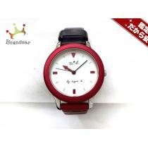コピー agnes b(アニエスベー) 腕時計 VJ21-K560 レディース 革ベルト/ボーダー 白-1