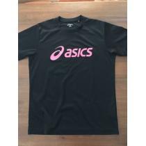 アシックス スーパーコピー★asics スーパー コピー 半袖Tシャツ プラクティスシャツL 黒×ピンク-1