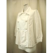 【earthmusic&ecology】白7分袖の麻入りジャケットです-1