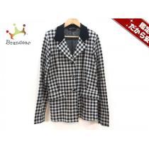 スーパー コピー agnes b(アニエスベー) ジャケット1 レディース 黒×白 チェック柄/ニット-1