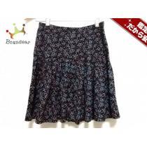 スーパーコピー agnes b(アニエスベー) ミニスカート レディース美品  黒×ブルー×マルチ 花柄-1