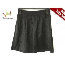 agnes b(アニエスベー) ミニスカート2 レディース美品  黒 サテン-1