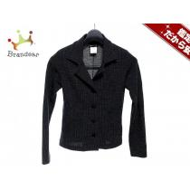 スーパーコピー agnes b(アニエスベー) ジャケット1 レディース 黒×白 肩パッド/ニット-1