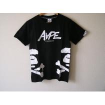 エイプ 半袖Tシャツ 黒 XLサイズ スーパー コピー A BATHING  ape bone-1