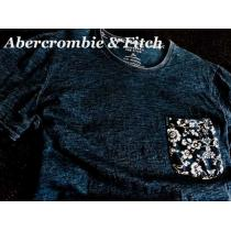 【Abercrombie&Fitch スーパー コピー】Vintage インディゴ染め Tシャツ Denim/XL-1