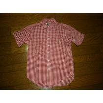 美中古APEエイプギンガムチェックシャツS赤白半袖-1