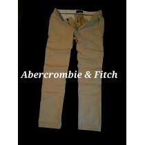 【Abercrombie&Fitch コピー】最新 アバクロ Vintage ストレッチ チノパンツ W34/カーキ-1