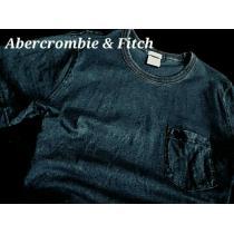 【Abercrombie&Fitch スーパーコピー】アバクロ Vintage Denim インディゴ染め Tシャツ XL-1