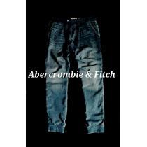 【Abercrombie&Fitch コピー】アバクロ Vintage Denim スウェットジョガーデニム L-1