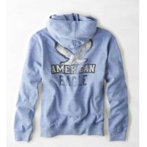 【American Eagle】Vintage AEOグラフィックポップオーバーフーディ S/Blue-1