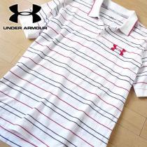 美品 L アンダーアーマー  メンズ 半袖ポロシャツ ホワイト-1
