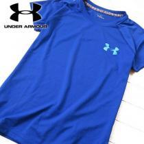 超美品 M アンダーアーマー  レディース 半袖Tシャツ ブルー-1