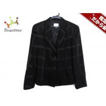 アルマーニ スーパー コピー スーパーコピーコレッツォーニ ジャケット38 レディース美品  黒 チェック柄/肩パッド-1