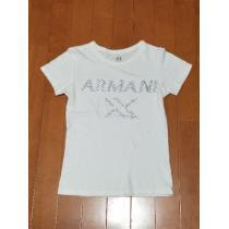 ◆ARMANIEXCHANGE コピー◆シルバーストーンロゴTシャツ◆-1