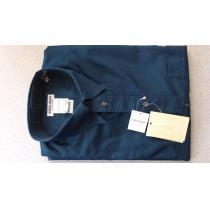 激安76%オフジョルジオ、アルマーニ スーパーコピー コピー、長袖シャツ(新品タグ、紺、イタリア製、M)-1
