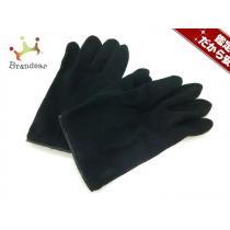 イヴサンローラン スーパー コピー 手袋 レディース美品  黒 ウール×レザー-1