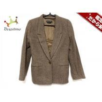 ジョルジオアルマーニ  コピー ジャケット38 レディース新品同様  ライトブラウン×黒-1