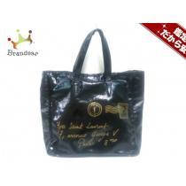 イヴサンローラン コピーリヴゴーシュ トートバッグ Yメール 188651 黒×ゴールド-1