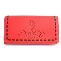 ■新品■ヴィヴィアン パンチング ステッチ 赤 長財布 オーブ-1